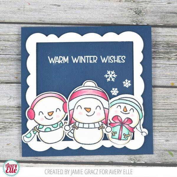 Snow Fun, Avery Elle Clear Stamps - 811568027978
