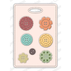 Button Card, Impression Obsession Dies - 845638027803
