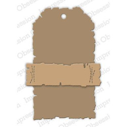 Deckled Tag, Impression Obsession Dies - 845638027827