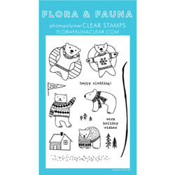Polar Bear Fun, Flora & Fauna Clear Stamps - 725835782883