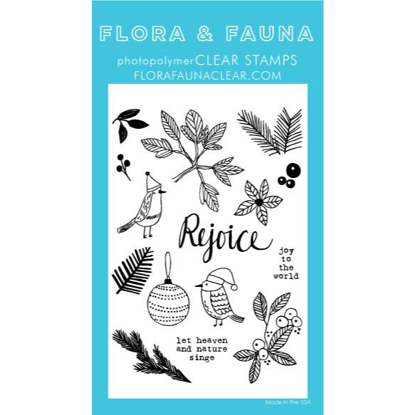 Greenery Aviary, Flora & Fauna Clear Stamps - 725835782913