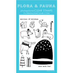 Snow Much Fun Snow Globe, Flora & Fauna Clear Stamps - 725835782920