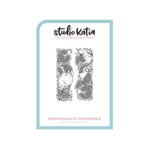 Pomegranate Trimmings, Studio Katia Clear Stamps - 0013415374222