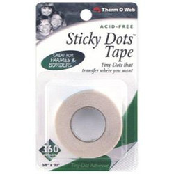"Sticky Dots Tape 3/8"" X 30', Thermoweb Adhesives - 000943040507"