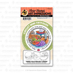 Circlet Mini Tryfold - Thanksgiving, Art Impressions Clear Stamps - 750810796227