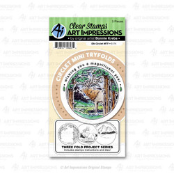 Circlet Mini Tryfold - Elk, Art Impressions Clear Stamps - 750810796234