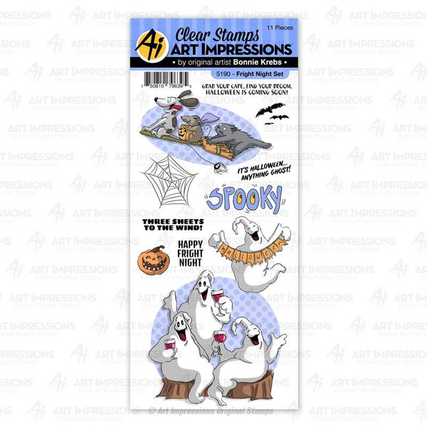 Fright Night, Art Impressions Clear Stamps - 750810796395