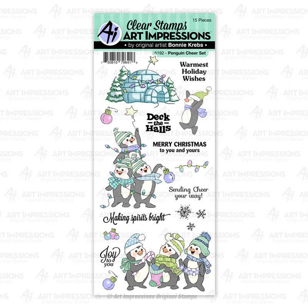 Penguin Cheer, Art Impressions Clear Stamps - 750810796418