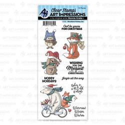 Woodland Holiday, Art Impressions Clear Stamps - 750810796425