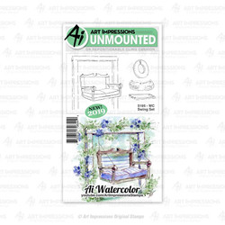 Watercolor Swing, Art Impressions Cling Stamps - 750810796449