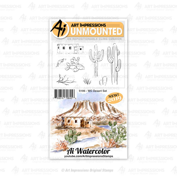 Watercolor Desert, Art Impressions Cling Stamps - 750810796456
