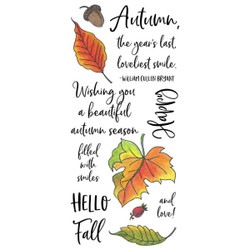 Autumn Leaves, Inky Antics Clear Stamps -