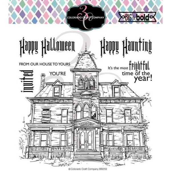 Haunted House, Colorado Craft Company Clear Stamps - 857287008614