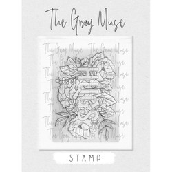 Hugs stamp, The Gray Muse Clear Stamps -