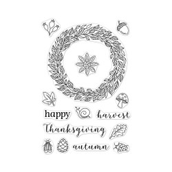 Autumn Wreath, Hero Arts Clear Stamps - 857009242074