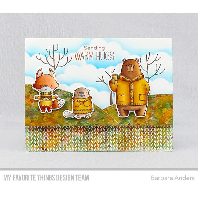 Knitted Sweater Background, My Favorite Things Cling Stamps - 849923030837
