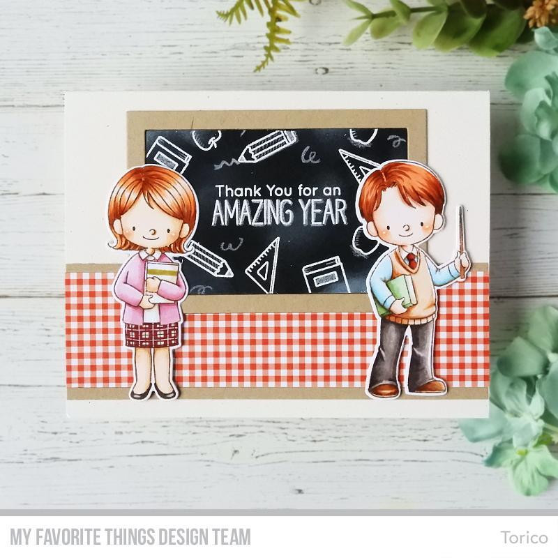 Favorite Teacher By Birdie Brown, My Favorite Things Clear Stamps - 849923032039