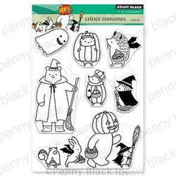Critter Costumes, Penny Black Clear Stamps - 759668305926