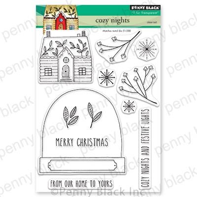 Cozy Nights, Penny Black Clear Stamps - 759668306138