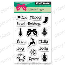Seasonal Signs, Penny Black Clear Stamps - 759668306176
