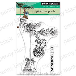 Pinecone Perch, Penny Black Clear Stamps - 759668306176