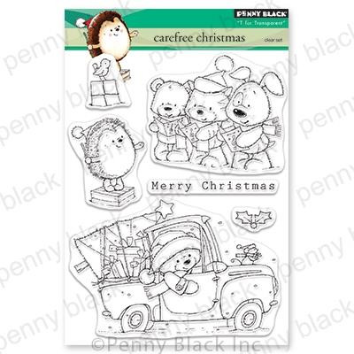 Carefree Christmas, Penny Black Clear Stamps - 759668306251