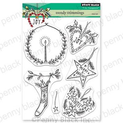 Trendy Trimmings, Penny Black Clear Stamps - 759668306282