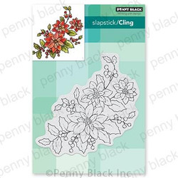 Poinsettia Poem, Penny Black Cling Stamps - 759668407002