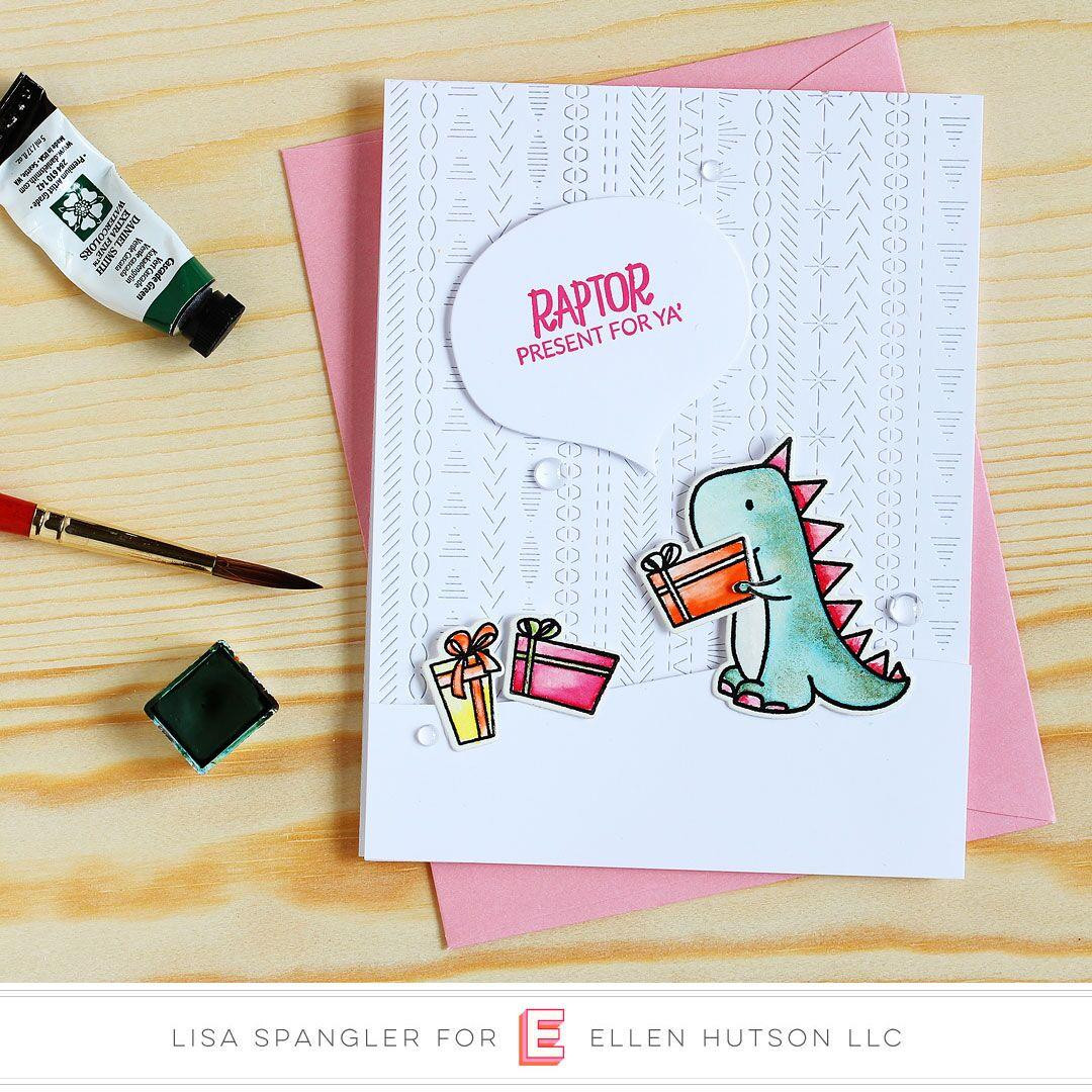 Dinomite Christmas By Brandi Kincaid, Essentials By Ellen Clear Stamps -