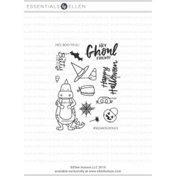Dinomite Halloween By Brandi Kincaid, Essentials By Ellen Clear Stamps -
