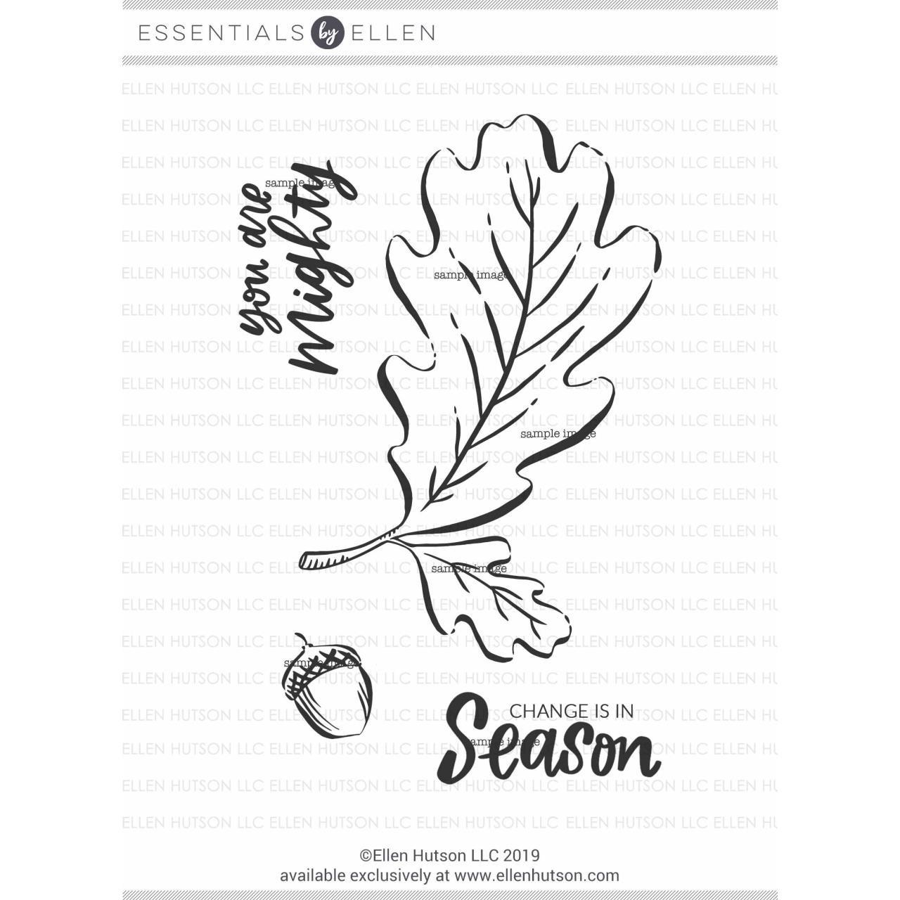 Mondo Oak Leaf By Brandi Kincaid, Essentials By Ellen Clear Stamps -