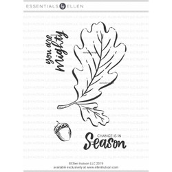 Mondo Oak Leaf By Brandi Kincaid, Essentials By Ellen Clear Stamps -