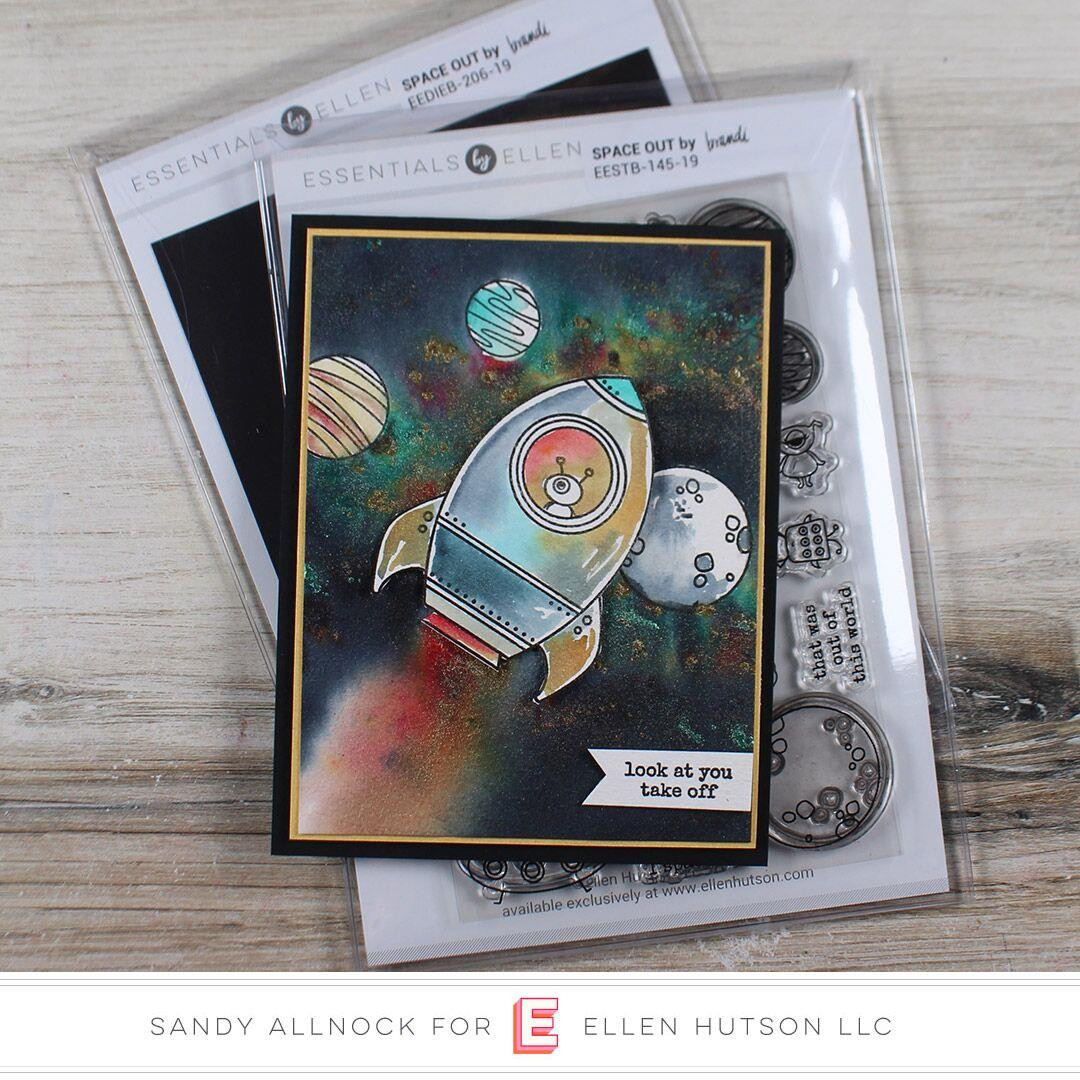 Space Out By Brandi Kincaid, Essentials By Ellen Clear Stamps -
