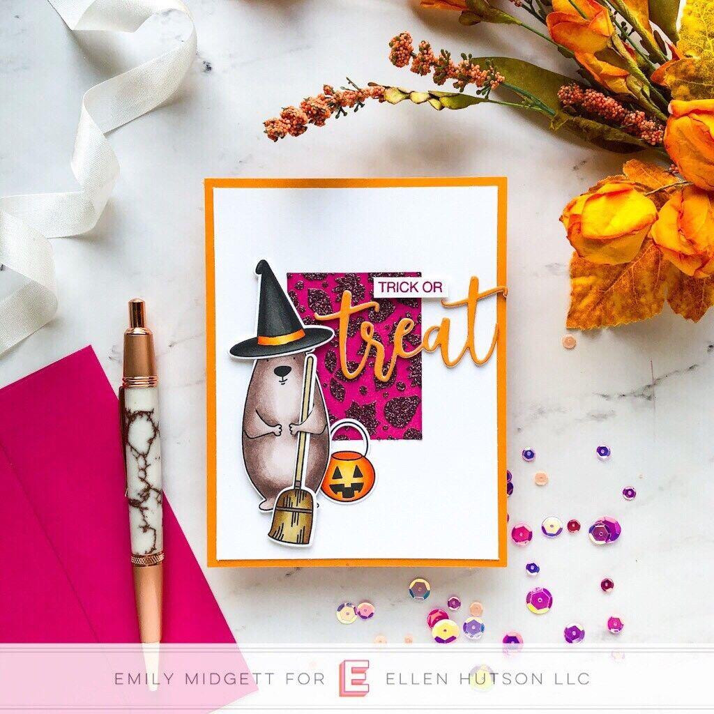 Boo & Treat Word Dies, Essentials By Ellen Designer Dies -