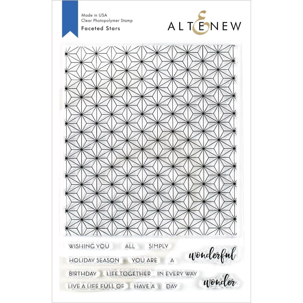 Faceted Stars, Altenew Clear Stamps - 737787254592