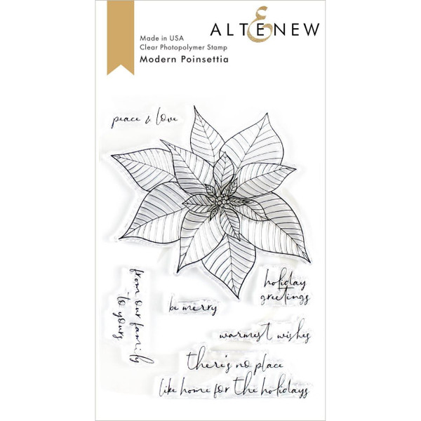 Modern Poinsettia, Altenew Clear Stamps - 737787254707