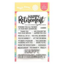 Happy Retirement, Waffle Flower Clear Stamps - 644216561520