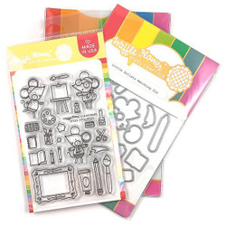 Little Artists, Waffle Flower Stamp & Die Combo - 644216563128