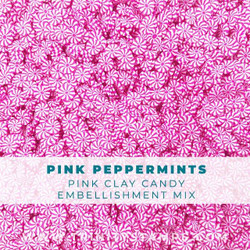 Pink Peppermints Small, Trinity Stamps Embellishments -