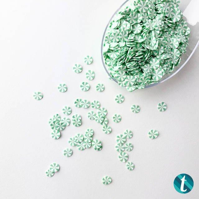 Spearmint Candy, Trinity Stamps Embellishments -