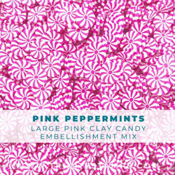 Pink Peppermints Large, Trinity Stamps Embellishments -
