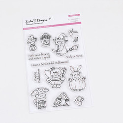 All Hallow's Cuteness, Evelin T Designs Clear Stamps - 725330029902