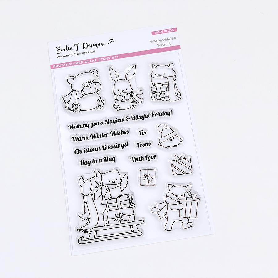 Warm Winter Wishes, Evelin T Designs Clear Stamps - 725330029940