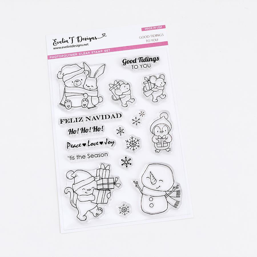 Good Tidings To You, Evelin T Designs Clear Stamps - 725330029957