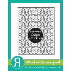 Stitched Circles Cover Panel, Reverse Confetti Cuts -