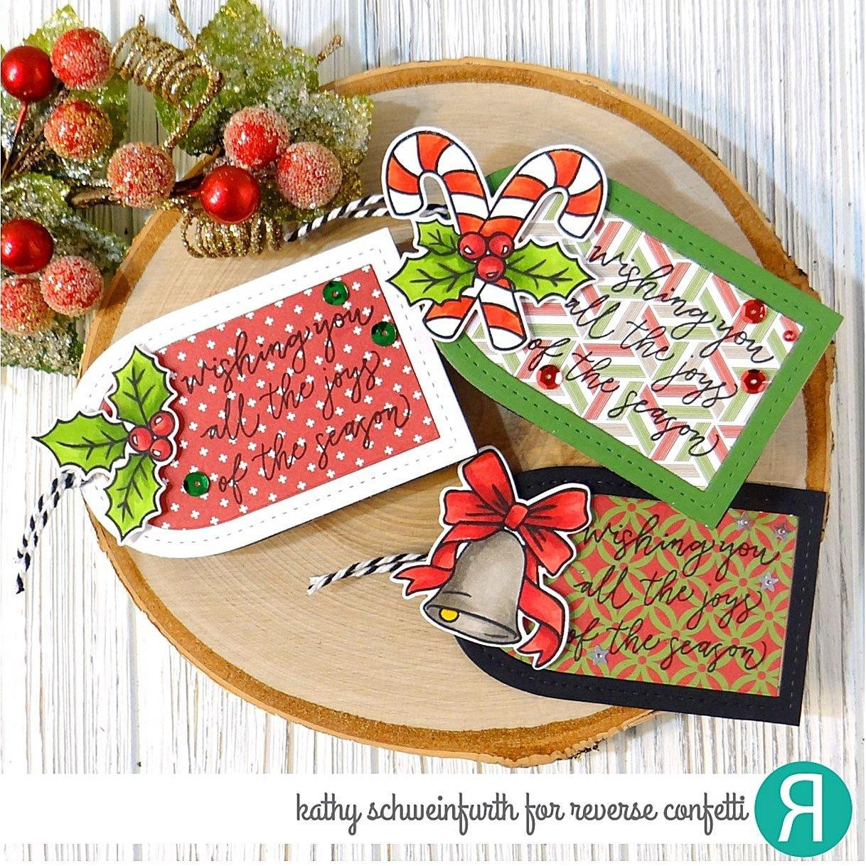 Joys Of The Season, Reverse Confetti Clear Stamps -