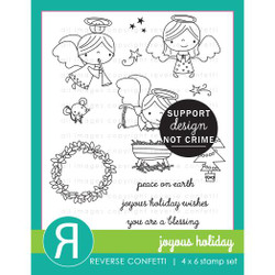 Joyous Holiday, Reverse Confetti Clear Stamps -