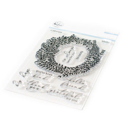 Delicate Wreath, Pinkfresh Studio Clear Stamps - 782150203134