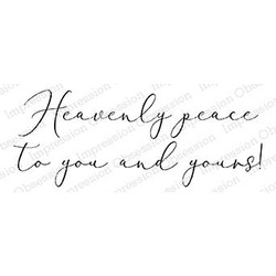Heavenly Peace Word, Impression Obsession Cling Stamps - 845638025151