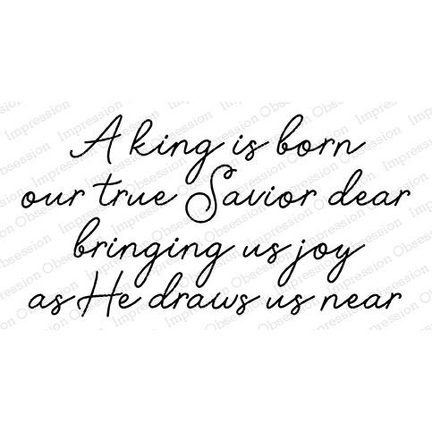 A King is Born, Impression Obsession Cling Stamps - 845638025267